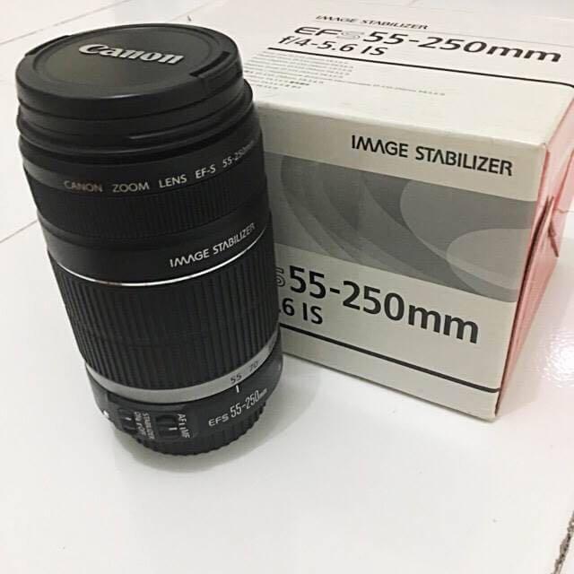 Lensa Canon 55-250mm (Tele)