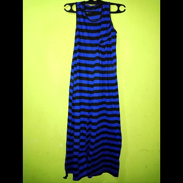 Long dress blaster blue