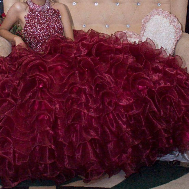Maroon Ball Gown, Preloved Women\'s Fashion, Clothes on Carousell