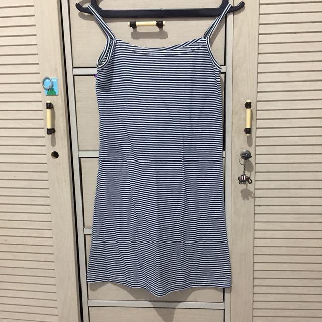 Mini dress / stripe dress / baju pantai / dress pantai / tanktop dress