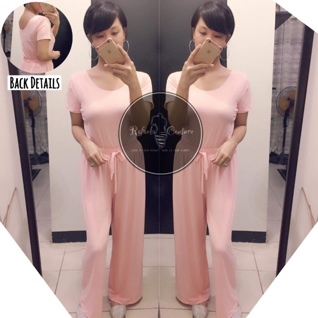 Monica Lowback Top and Palazzo Pants (PAIR) - Pinky Peach