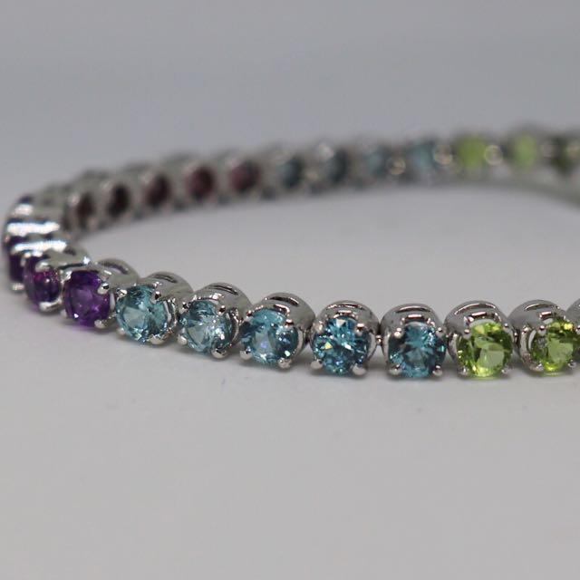 Multi coloured gemstones