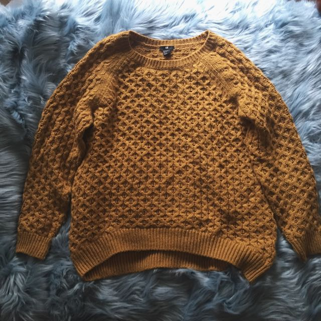 Mustard Oversized Knitted Jumper