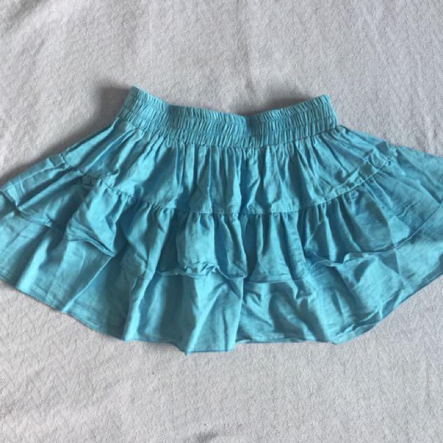 Nafnaf Denim Tulle Skirt