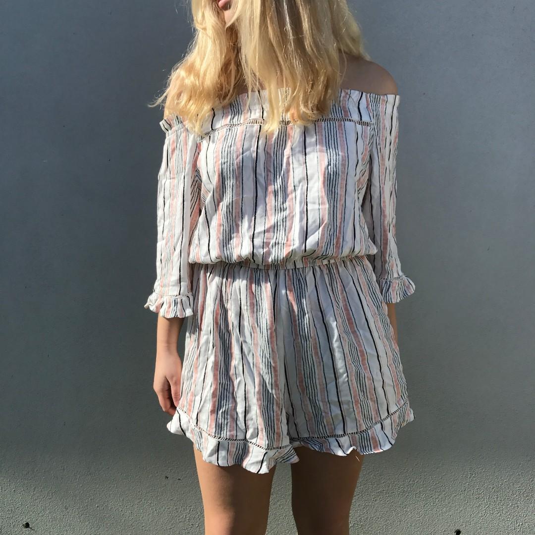 Never worn - stripe playsuit
