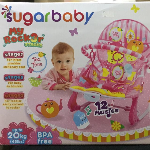 b97ebd8e1bb6 NEW Sugar Baby Bouncer up to 20kgs with 3 functions
