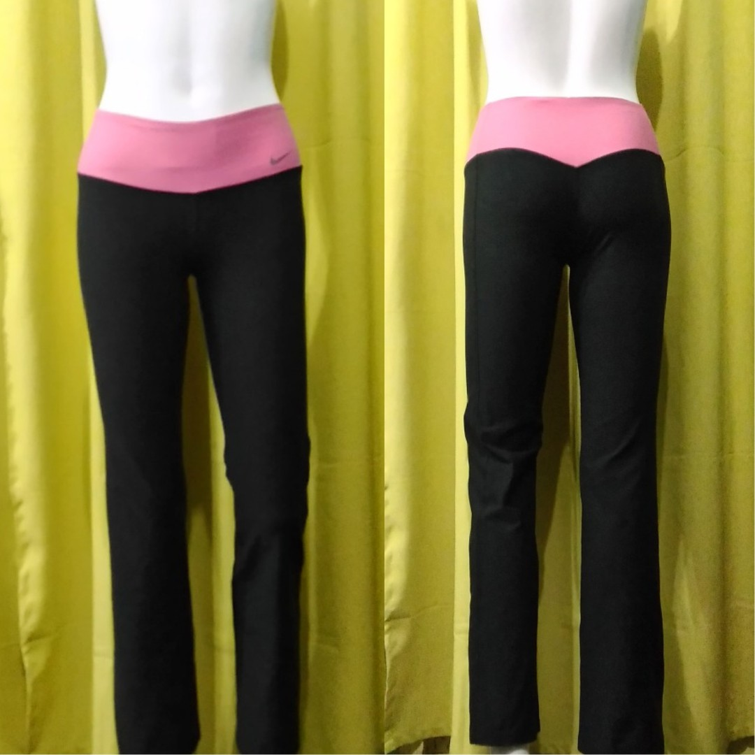 Nike pink band yoga pants
