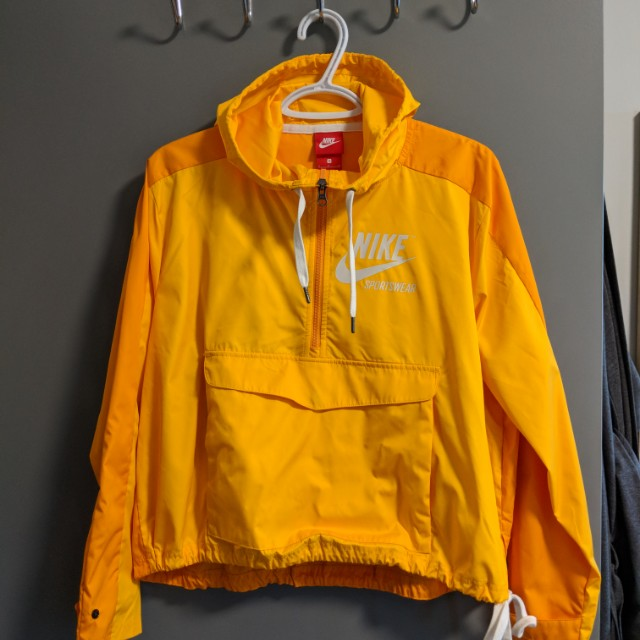 Nike Yellow Windbreaker Jacket