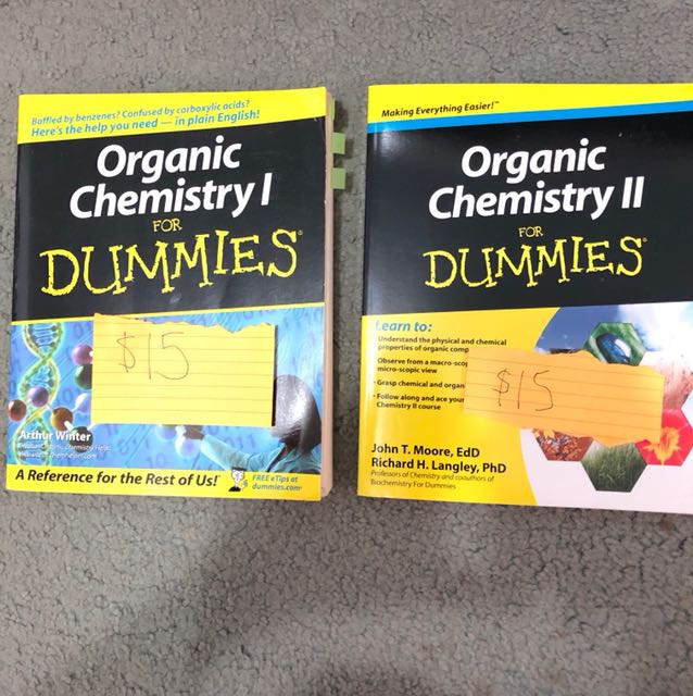 Organic Chemistry For Dummies 1 And 2 Textbooks On Carousell