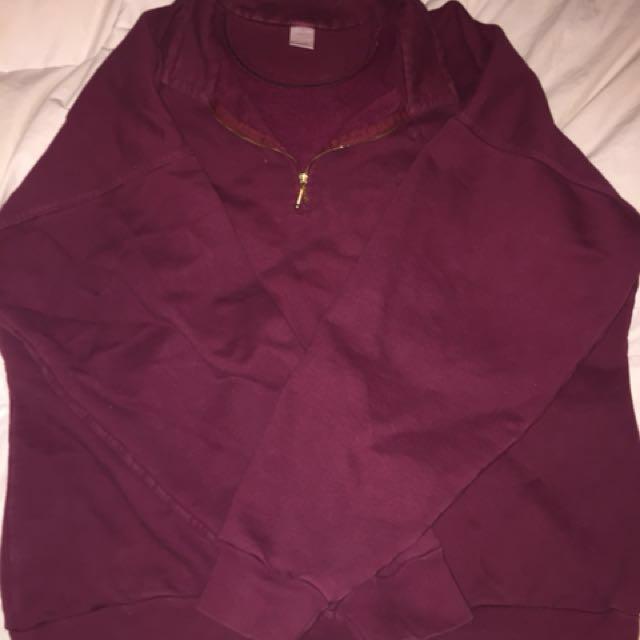 Oversized men's half zip sweater