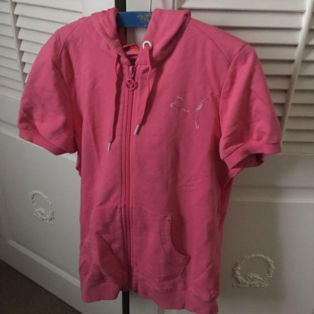 Pink puma top