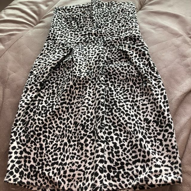 Preloved Printed Short Tube Dress