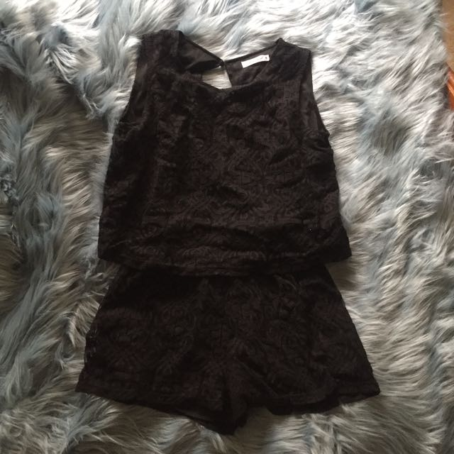 Princess Polly Black One Piece Playsuit