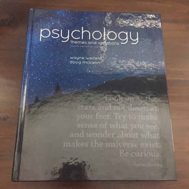 Psychology: Themes and Variations Fourth Canadian Edition - Wayne Weiten / Doug Mccann