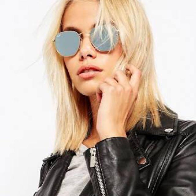 e6bc1b4fd70 RAY-BAN Hexagonal Flat Lens 51 Sunglasses