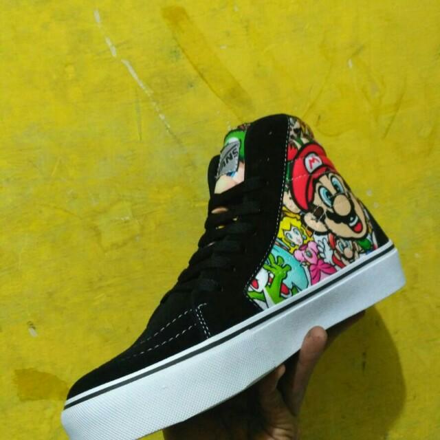 Sale Sepatu Vans Oldskool Mario Bross Hi fb9470bd14