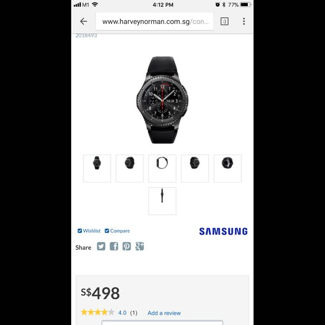 Samsung Gear S3 Frontier - UNDER WARRANTY  Retail Price $498