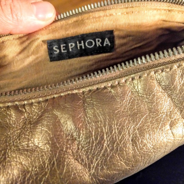 Sephora pouch with zipper