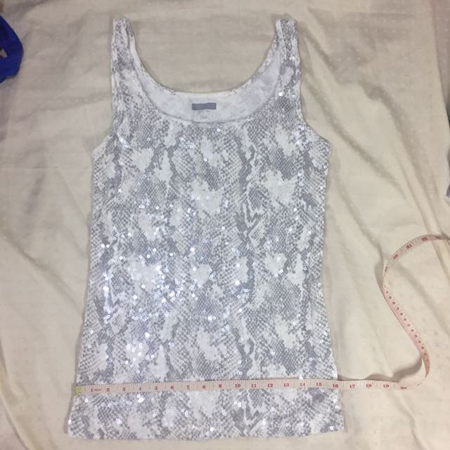 Sequined sando blouse