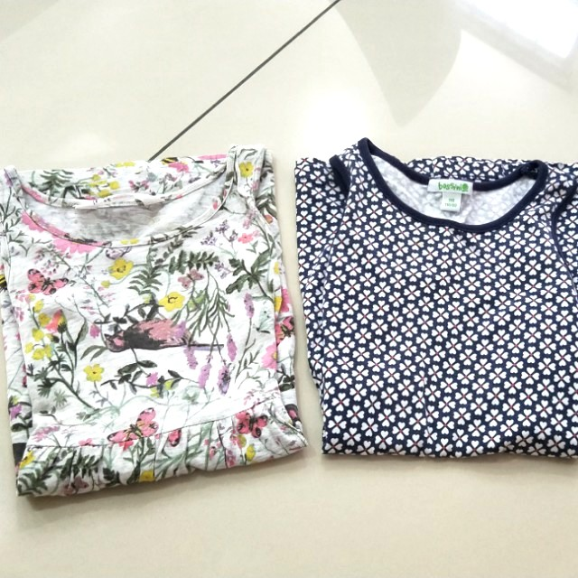 Set of 2 cotton dresses h&m bossini