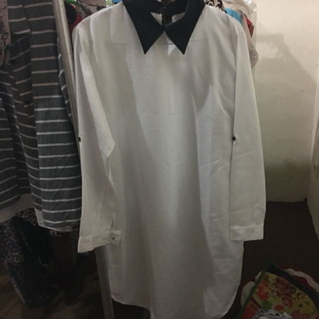 Shirt dress + obi