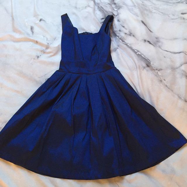 Size S - Blue Shimmer Skater Dress