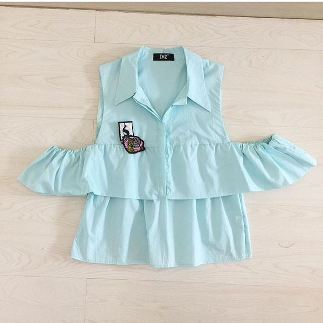 Skiie cut out blouse