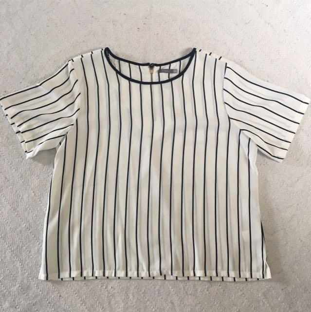 Stripe Top White