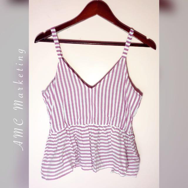 Stripes plum top