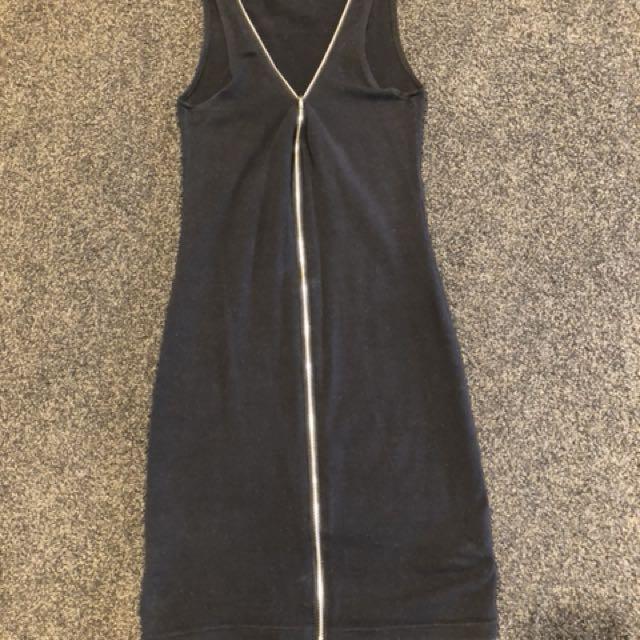 Supre Size 3XS Black Zip Dress
