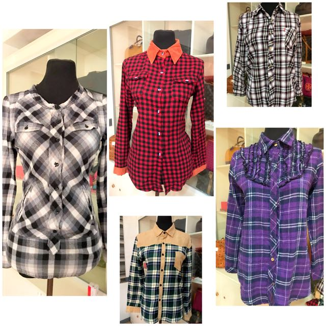 Take all for 350 long sleeve checkered!!