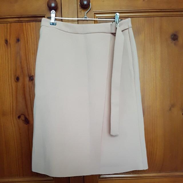 Topshop Sleek pale pink /peach skirt