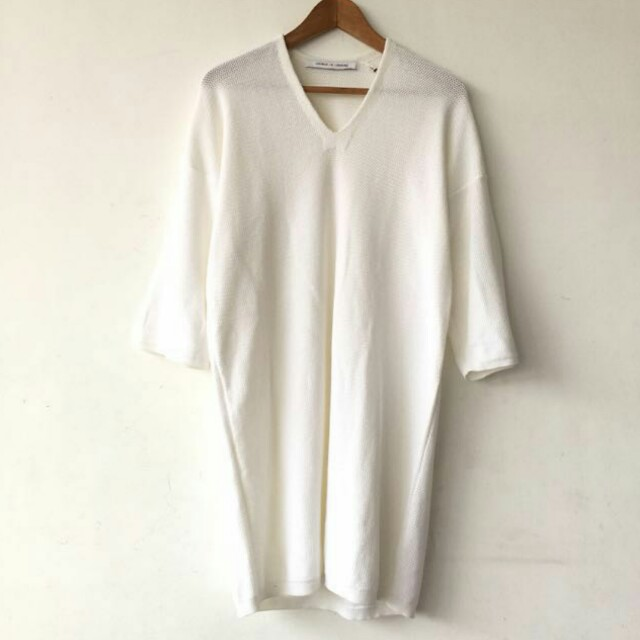 Uniqlo and Lemaire Knitted White Shift Dress