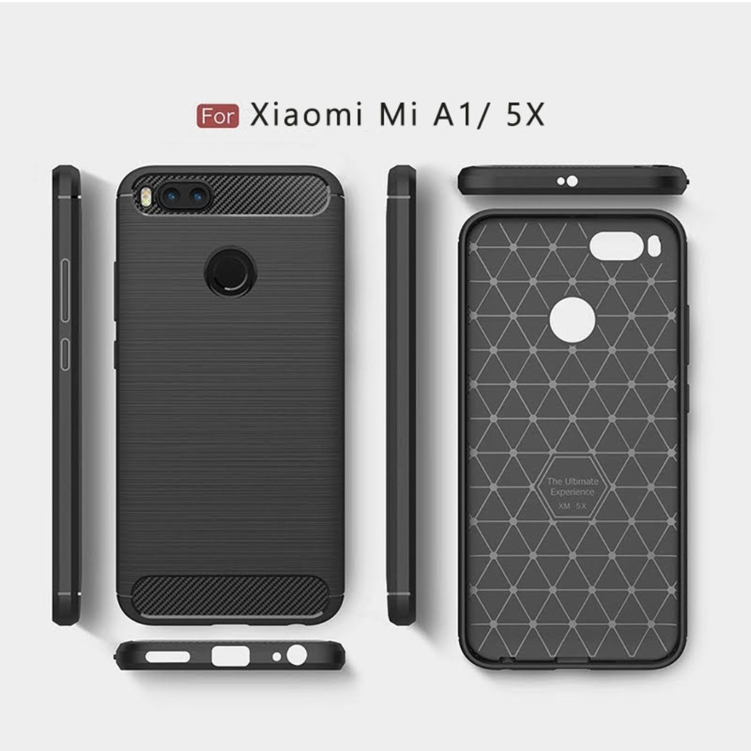 Xiaomi Mi A1 Carbon Fiber Rugged Armor Case Mobile Phones Tablets Motomo 4i Back Hardcase Color Tablet Accessories Cases Sleeves On Carousell