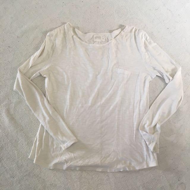 Zara Organic Cotton White Top