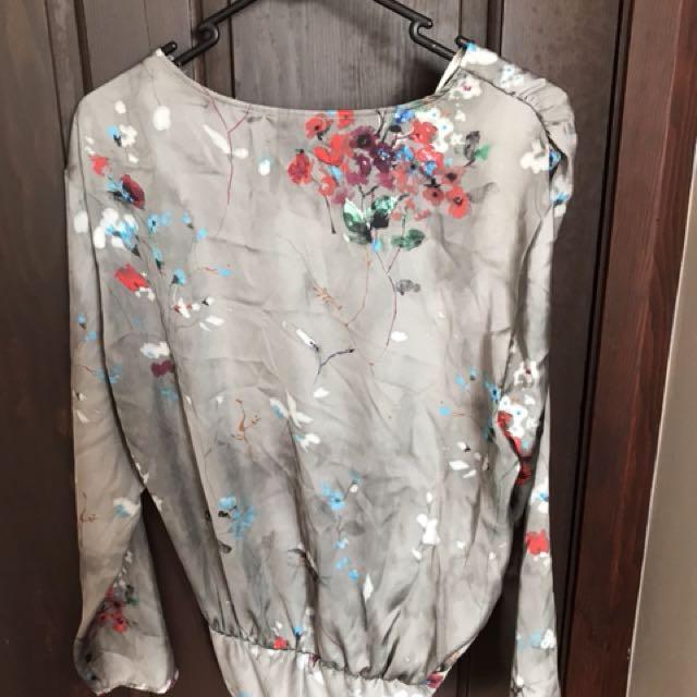 Zara silky plunge bodysuit M
