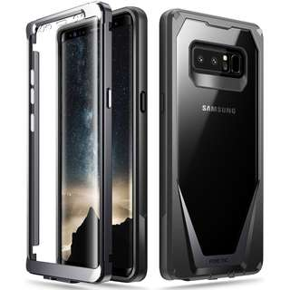 [IN-STOCK] Galaxy Note 8 Case, Poetic Guardian [Scratch Resistant Back] [360 Degree Protection]Full-Body Rugged Clear Hybrid Bumper Case with Built-in-Screen Protector for Samsung Galaxy Note 8 Black