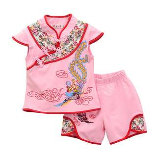 *Ready Stock* New Kids Suit - Cute 2 Pieces Tang Suit