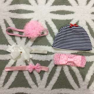 Bundle: baby girl headband