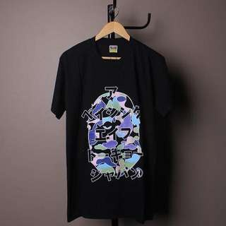 Bape japan styles T-shirt black