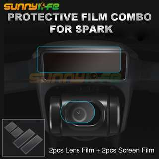 Protective Film Combo Lens Screen Protector Tempered Glass for DJI SPARK