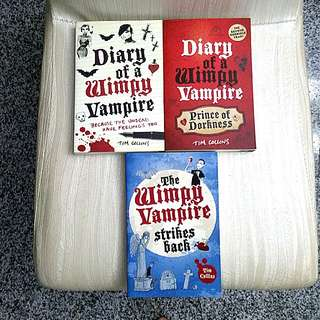 Diary of a Wimpy Vampire Story Books by Tim Collins