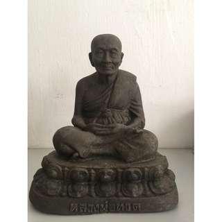 Aj Nong Wat Saikow LP ThuadNur Herb Wahn Bucha With Jumbo LP Thuad Amulet(Height 18cm x 17cm)