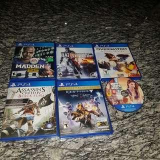 WTS PS4 games