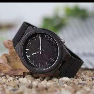 Bobo bird jam tangan kayu analog
