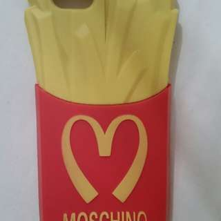 MOSCHINO used M McDonald's chip RUBBER iPhone 5 cover RARE