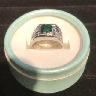 Natural Emerald Mans ring