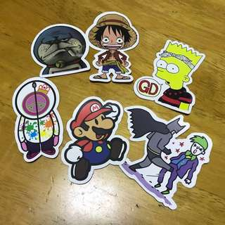 [NEW] Character Luggage / Laptop Stickers