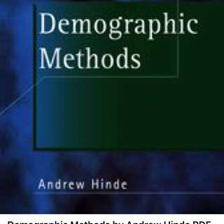 Demographic Methods by Andrew Hinde