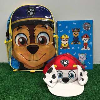 BN Paw Petrol Backpack + Finger puppet